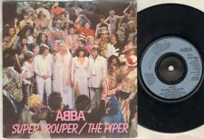 "ABBA Super Trouper 7"" Ps, B/W The Piper, Epc 9089 (Vg/Vg, Vinyl Has Light Surfac"