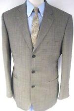 Stafford Men's Sport Coat Jacket Brown Three Button Wool Glen Plaid Size 40R