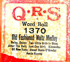 QRS Word Roll OLD FASHIONED WALTZ MEDLEY 1370 Player Piano Roll