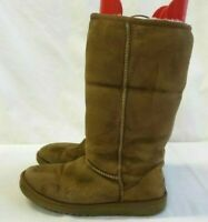 UGG Australia Classic II Tall 5815 Women's Tan Shearling Suede Boots Size 7