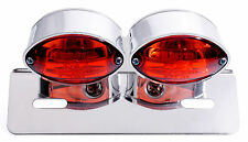 FANALE RETROVISORE DOPPIO MICRO Cateye per HD Harley Suzuki Yamaha Chopper BMW universale
