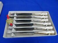 Six Vintage Viners Stainless Steel Kings Royale Dessert Knives
