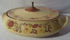 Taylor Smith Taylor Indian Summer Casserole Dish Tureen Oven Proof Ironware 1968
