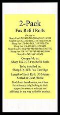 2-pack UX-3CR Fax Refill Rolls for Sharp UX-330L UX-335L UX-340 UX-340L UX-340LM