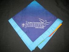 2007 World Jamboree Activity Partners & Scout Traders lt blu bdr Neckerchief j13