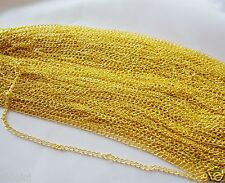 Free shipping 10pcs Gold plated chain finding 48cm,2mm G