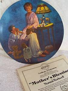 """NEW  Norman Rockwell """"Mother's Blessing""""  Plate!"""