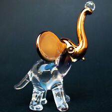 "Crystal ELEPHANT Figurine Made in Czech Republic 1 1//4/"" x 1/"" 1053"