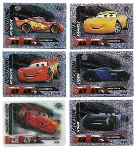 DISNEY PIXAR Cars 3 Complete 6 Limited Edition Card Set TOPPS