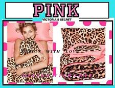 5pc Victoria's Secret Pink Leopard REVERSIBLE Bed n Bag Comforter Sheet Set TWIN