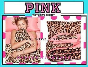 Victoria's Victorias Secret PINK Leopard  BED IN BAG* Comforter REVERSIBLE Twin