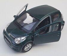 Livraison rapide CITROEN c1/C 1 vert foncé Green welly modèle auto 1:34 NOUVEAU & OVP