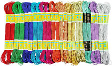24 Skeins of 100% Cotton Metallic Thread for Hand Embroidery - Assorted Colors