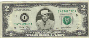 Hank Williams $2 Dollar bill Mint real
