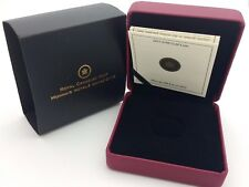 2012 Royal Canadian Mint $100 Gold Coin Anniversary Empty Red Leather Box COA