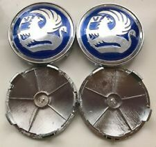 Set of 4 Blue Vauxhall 68MM BY 65MM BMW Style Alloy Wheel Badges Center Caps