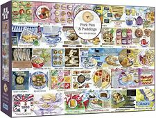 Gibsons 1000 Piece Jigsaw Puzzle Pork Pies & Puddings