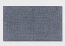 "Made by Design Solid Blue Soft Bath Rug Tub Mat 34x20"" OEKO-TEX Latex Backing"