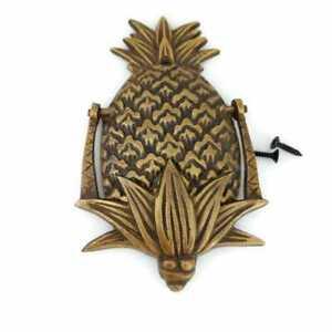 "brass Small cute 5.1/2 "" aged solid Brass Pineapple shape Door Knocker 13.7cm"