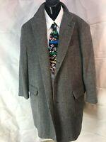 Paul Fredrick Herringbone Wool/cashmere blend overcoat size XL