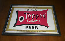 TOPPER PILSENER BEER BOTTLE LABEL FRAMED PRINT