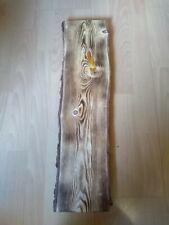 Holz Bohle Kiefer Massiv Unikat Brett  geschliffen, geflämmt 60x16x2 Neu Nr11