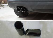 2XTitanium Black Muffler Exhaust Tail Pipe Tip For BMW E90 E92 325 3Series 06-10