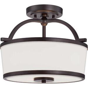 NEW Savoy House 6-4382-2-13  2 Light Semi Flush Ceiling Light English Bronze