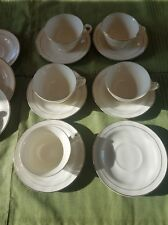 Edwin Knowles-Ivory with 22K gold bands-China-Classic pattern-10 cups & saucers