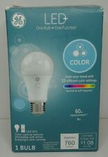 GE LED+  COLOR 10 Color Settings & White  9.5W  A19 w Remote, Dimmable 2177