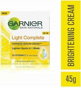 2 x 45g   Garnier Skin Naturals Light Complete Fairness Serum Cream