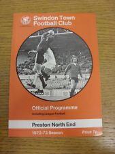 14/10/1972 Swindon Town V Preston North End (equipo cambios). si el artículo tiene una