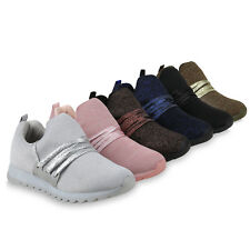 Damen Sportschuhe Laufschuhe Runners Glitzer Profil Sohle 823745 Schuhe