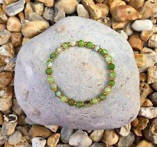 LIME STRIPED AGATE Semi Precious Gemstone Bracelet ~ by Lola & Lily Rose 🌹