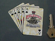 "Royal Enfield Flush Playing Cards Motorcycle STICKER 4"" Bike Bullet Continental"