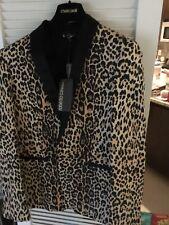 Roberto Cavalli Mens Giacca Costruita Jaguar Slim Cotton Sportcoat EU 48 US 40