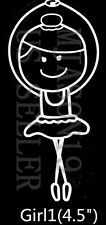 SHIP FROM USA Family Vinyl Decal Sticker Car Decals Stickers-Ballet Girl