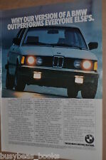 1982 BMW advertisement, BMW 320i, Bavarian Motor Works