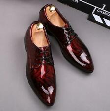Mens Business Casual Sequined Shiny Dress Shoes Pu Leather Pointed Toe New Sbox1