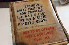 """NOS 1/4"""" BSF Hex Head HTS Bolt A15Y-7E qty 72 (D/1)"""