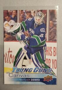 2016-17 UD S2 Young Guns Canvas Thatcher Demko Vancouver Canucks RC Rookie