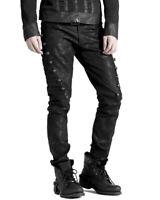 Punk Rave Mens DieselPunk Military Jeans Pants Black Gothic Steampunk Trousers