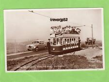Tramcar Tram Wartling Road Eastbourne unused RP pc Valentines Ref B342