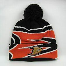 61f628c5268ee Adidas Men s NHL Anaheim Ducks Team Colors Winter Knit Bobble Beanie Hat
