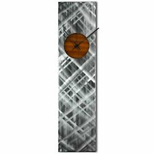 Modern Wall Clock Silver Home Decor Root Beer Abstract Kitchen Metal Wall Clock
