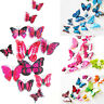 12pcs 3D Butterfly Design Wall Stickers Art Decals Home Room Decorations Decor