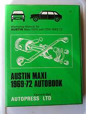 AUSTIN MAXI WORKSHOP MANUAL 1500 1750 HL HLS SALOON ESTATE 1969 - 72 HYDROLASTIC
