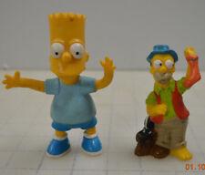 LOT OF 2 THE SIMPSONS HOMER SIMPSON SMELLY SOCK SKUNK CAMPER FIGURE & BART 1990