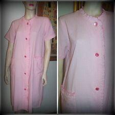 """True Vintage 50's 60's """" Jagmont """"  Women's Pink & White Cotton Gingham Robe"""