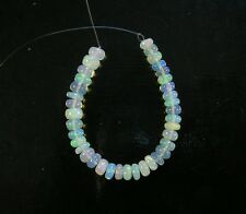 "White ETHIOPIAN welo OPAL smooth rondelle beads AAA 4.5-5mm 4""strand"